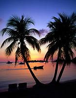 Jamaica, Westmoreland, Sonnenuntergang am Traumstrand Negril Beach   Jamaica, Westmoreland, Sunset at Negril Beach