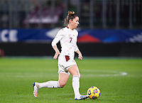 Swiss Sandy Maendly (7) pictured in action during the Womens International Friendly game between France and Switzerland at Stade Saint-Symphorien in Longeville-lès-Metz, France.