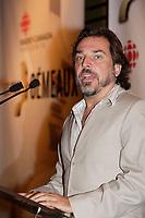Montreal (QC) CANADA, August 28, 2007-<br /> CHRISTIAN BEGIN, ANIMATEUR DE L?AVANT-PREMIÈRE<br /> DES 22es PRIX GÈMEAUX, PRÈSENTÈE SUR LES ONDES DE TÈLÈ-QUÈBEC<br /> Conference de presse  pour les finalistes au prix gemeaux<br /> <br /> photo : (c) images Distribution