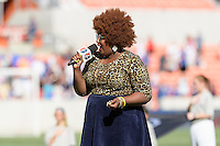 Houston, TX - Sunday Oct. 09, 2016: Kam Franklin prior to the National Women's Soccer League (NWSL) Championship match between the Washington Spirit and the Western New York Flash at BBVA Compass Stadium. The Western New York Flash win 3-2 on penalty kicks after playing to a 2-2 tie.