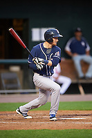 New Hampshire Fisher Cats third baseman Shane Opitz (16) at bat during a game against the Harrisburg Senators on June 2, 2016 at FNB Field in Harrisburg, Pennsylvania.  New Hampshire defeated Harrisburg 2-1.  (Mike Janes/Four Seam Images)