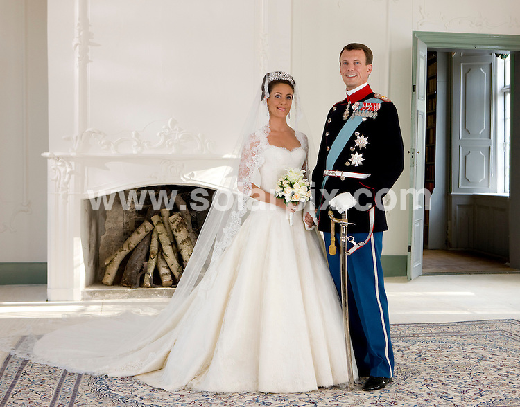 **ALL ROUND PICTURES FROM SOLARPIX.COM**.**SYNDICATION RIGHTS FOR UK AND SPAIN ONLY**.Princess Marie and Prince Joachim of Denmark get married at Schackenborg Castle. Official wedding photo. 24th May 2008..This pic: Princess Marie and Prince Joachim..JOB REF: 6512 CPR/Moegeltoender .DATE: 24_05_2008.**MUST CREDIT SOLARPIX.COM OR DOUBLE FEE WILL BE CHARGED* *UNDER NO CIRCUMSTANCES IS THIS IMAGE TO BE REPRODUCED FOR ANY ONLINE EDITION WITHOUT PRIOR PERMISSION*