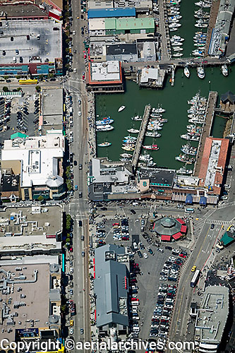 aerial photograph Fisherman's wharf San Francisco, California