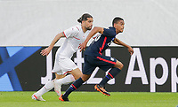ST. GALLEN, SWITZERLAND - MAY 30: Reggie Cannon #20 of the United States moves towards the box during a game between Switzerland and USMNT at Kybunpark on May 30, 2021 in St. Gallen, Switzerland.