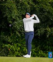 2nd July 2021; Mount Juliet Golf Club, Kilkenny, Ireland; Dubai Duty Free Irish Open Golf, Day Two; John Catlin of the USA tees off on the 13th hole