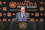 Opening Plenary Meeting of the Nelson Mandela Peace Summit<br /> <br /> His Excellency Aloysio NUNESMinister for External Relations of Brazil