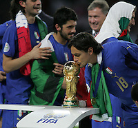 Italian forward (18) Filippo Inzaghi kisses the World Cup following the game.  Italy defeated France on penalty kicks after leaving the score tied, 1-1, in regulation time in the FIFA World Cup final match at Olympic Stadium in Berlin, Germany, July 9, 2006.