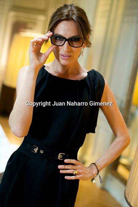 MADRID, SPAIN - APRIL 28: Spanish model Nieves Alvarez poses for a portrait session at Hotel Santo Mauro on April 28, 2011 in Madrid, Spain. (Photo by Juan Naharro Gimenez)