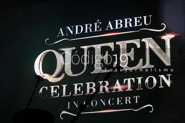 São Paulo (SP), 15/08/2021 - SHOW-SP O Cantor André Abreu apresenta seu show Queen Celebration in Concert Interpretando os clássicos da banda neste domingo(15) no Grupo Tom Brasil em São Paulo /SP