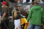 HOT SPRINGS, AR - JANUARY 16: Jockey Luis Quinonez talking to trainer Donnie K Von Hemel after the running of the Smarty Jones Stakes at Oaklawn Park on January 16, 2017 in Hot Springs, Arkansas. (Photo by Justin Manning/Elipse Sportwire/Getty Images)