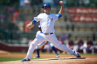 South Bend Cubs pitcher Justin Steele (21) delivers a pitch during the second game of a doubleheader against the Peoria Chiefs on July 25, 2016 at Four Winds Field in South Bend, Indiana.  South Bend defeated Peoria 9-2.  (Mike Janes/Four Seam Images)