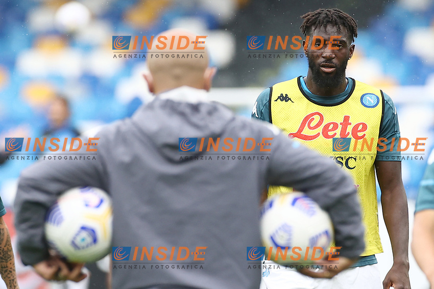 Tiemoue Bakayoko of SSC Napoli during the warm up<br /> prior to the Serie A football match between SSC Napoli and Atalanta BC at stadio San Paolo in Napoli (Italy), October 17th, 2020. <br /> Photo Cesare Purini / Insidefoto