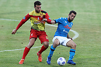 Amin Younes of SSC Napoli in action during the friendly football match between SSC Napoli and Castel di Sangro Cep 1953 at stadio Patini in Castel di Sangro, Italy, August 28, 2020. <br /> Photo Cesare Purini / Insidefoto