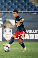 FOXBOROUGH, MA - SEPTEMBER 04: Damian Rivera #72 of New England Revolution II during a game between Forward Madison FC and New England Revolution II at Gillette Stadium on September 04, 2020 in Foxborough, Massachusetts.