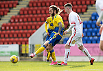 St Johnstone v Brechin City…10.10.20   McDiarmid Park  Betfred Cup<br />Stevie May and Kieran Inglis<br />Picture by Graeme Hart.<br />Copyright Perthshire Picture Agency<br />Tel: 01738 623350  Mobile: 07990 594431
