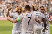 CARSON, CA - December 7, 2014: The MLS Cup. LA Galaxy vs New England Revolution match at the StubHub Center in Carson, California. Final score, LA Galaxy 2, New England Revolution 1 (2 OT).