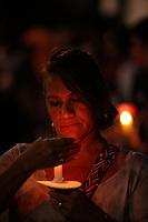 Jornalista Célia Pinho<br />Procissão em homenagem a Nossa Senhora de Fatima percorre as ruas da capital paraense.<br />Belem, Para, Brasil