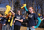 "Sierra Nevada Academy students Maryssa Steadman, 11, left, and Zandria Hines, 12, dance with other students at a ""Nevada Supports School Choice"" rally in support of educational choices on the Capitol grounds in Carson City, Nev., on Wednesday, Jan. 28, 2015.<br /> Photo by Cathleen Allison"