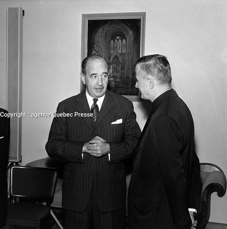 Le lieutenant-gouverneur du Québec, Hugues Lapointe<br /> , Entre le 4 et le 10 décembre1967<br /> <br /> Photographe : Photo Moderne