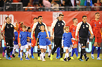 EAST RUTHERFORD, NJ - SEPTEMBER 7: Andres Guardado #18 of Mexico, Hector Herrera #16 of Mexico, Carlos Rodriguez #8 of Mexico, Jorge Sanchez #21 of Mexico entering the field during a game between Mexico and USMNT at MetLife Stadium on September 6, 2019 in East Rutherford, New Jersey.