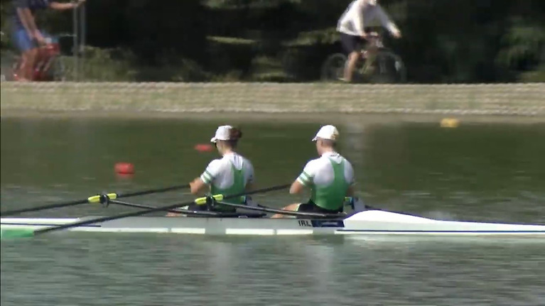 In the Women's Double Sculls A Final, Holly Davis and Rachel Bradley finished third to take the bronze medal