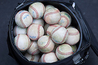 NCAA baseballs on March 2nd, 2013 at Minute Maid Park in Houston, Texas. (Andrew Woolley/Four Seam Images)