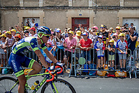 enthusiastic crowds at the finish in Fontenay-le-Comte<br /> <br /> Stage 1: Noirmoutier-en-l'Île > Fontenay-le-Comte (189km)<br /> <br /> Le Grand Départ 2018<br /> 105th Tour de France 2018<br /> ©kramon