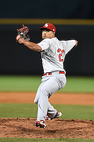 Palm Beach Cardinals pitcher Samuel Tuivailala (23) during a game against the Bradenton Marauders on April 8, 2014 at McKechnie Field in Bradenton, Florida.  Bradenton defeated Palm Beach 4-3.  (Mike Janes/Four Seam Images)