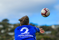 Action from the Central League Football match between Waterside Karori and Petone at Karori Park in Wellington, New Zealand on Saturday, 12 September 2020. Photo: Dave Lintott / lintottphoto.co.nz
