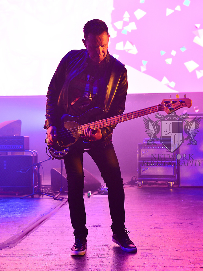 MIAMI BEACH, FLORIDA - JANUARY 18: Tom Chapman of New Order performs on stage at the Fillmore Miami Beach at the Jackie Gleason Theater on January 18, 2020 in Miami Beach, Florida.  ( Photo by Johnny Louis / jlnphotography.com )