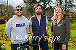Enjoying a stroll in the Tralee town park on Thursday, l to r: Robert Tiernan, Shane Flatman and Clare Fitzgerald.