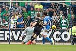 St Johnstone v Celtic…20.08.16..  McDiarmid Park  SPFL<br />James Forrest scores the third goal<br />Picture by Graeme Hart.<br />Copyright Perthshire Picture Agency<br />Tel: 01738 623350  Mobile: 07990 594431