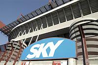 - stadio di calcio di S.Siro, pubblicità di Sky TV....- soccer stadium of S.Siro, Sky TV advertising