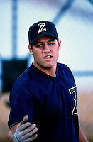 Lance Berkman of the New Orleans Zephyrs during the 1998 AAA Championship Series against the Buffalo Bison at Cashman Field in Las Vegas, Nevada. (Larry Goren/Four Seam Images)