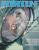 Fortune cover, Laser Fusion, photo by John G. Zimmerman.