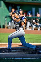 Ramon Hernandez (19) of the Missoula Osprey at bat against the Ogden Raptors in Pioneer League action at Lindquist Field on July 13, 2016 in Ogden, Utah. Ogden defeated Missoula 8-2. (Stephen Smith/Four Seam Images)