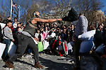 International Pillow fight day in New York