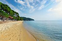 The beach Vromolimnos of Skiathos island, Greece