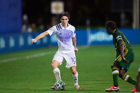 LAKE BUENA VISTA, FL - AUGUST 11: Mauricio Pereyra #10 of Orlando City SC dribbles the ball during a game between Orlando City SC and Portland Timbers at ESPN Wide World of Sports on August 11, 2020 in Lake Buena Vista, Florida.