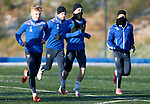 St Johnstone Training…. 29.12.20<br />Danny McNamara running with Ali McCann, David Wotherspoon and Stevie May during training at McDiarmid Park this morning ahead of tomorrows game against Hamilton<br />Picture by Graeme Hart.<br />Copyright Perthshire Picture Agency<br />Tel: 01738 623350  Mobile: 07990 594431