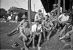 Pittsburgh PA:  Surveyors and crew for the Wabash RR project waiting for a train to go out to Hopedale Ohio.