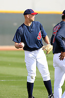 Justin Masterson. Cleveland Indians spring training workouts at their complex in Goodyear, AZ - 03/06/2010.Photo by:  Bill Mitchell/Four Seam Images.