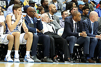 CHAPEL HILL, NC - NOVEMBER 01: Head Coach Roy Williams of the University of North Carolina slumps in his seat between assistants Steve Robinson and Hubert Davis during a game between Winston-Salem State University and University of North Carolina at Dean E. Smith Center on November 01, 2019 in Chapel Hill, North Carolina.
