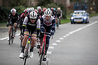 Team Trek-Segafredo, including World Champion Mads Pedersen (DEN/Trek-Segafredo), setting the race pace in the front group for team leader Jasper Stuyven (BEL/Trek-Segafredo)<br /> <br /> 75th Omloop Het Nieuwsblad 2020 (1.UWT)<br /> Gent to Ninove (BEL): 200km<br /> <br /> ©kramon