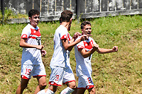 Gerard GARRIGA GIBERT of Waitakere United celebrates a goal with team mates during the  ISPS Handa Men's Premiership - Team Wellington v Waitakere Utd at David Farrington Park,Wellington on Saturday 30 January 2021.<br /> Copyright photo: Masanori Udagawa /  www.photosport.nz