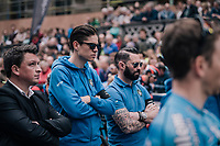 At the start in Leuven, Wout Van Aert (BEL/Vérandas Willems-Crelan), who is not racing, & his teammates line up to honour their teammate Michael Goolaerts (BEL), who died of a cardiac arrest just days earlier during Paris-Roubaix.<br /> All teammates ride with an armband with Goolaerts' name on it.<br /> For the rest of the season , the team will be riding #ALL4GOOLIE to honour and remember him.<br /> <br /> 58th De Brabantse Pijl 2018 (1.HC)<br /> 1 Day Race: Leuven - Overijse (BEL/202km)