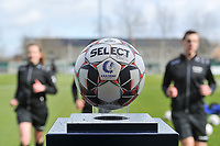 matchball pictured before a female soccer game between  AA Gent Ladies and Club Brugge YLA on the 16th matchday of the 2020 - 2021 season of Belgian Scooore Womens Super League , saturday 13 th of March 2020  in Oostakker , Belgium . PHOTO SPORTPIX.BE | SPP | STIJN AUDOOREN