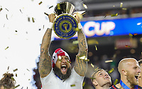 Santa Clara, CA - Wednesday July 26, 2017: Tim Howard and the U.S. Men's national team celebrate winning the 2017 Gold Cup Championship by defeating Jamaica 2-1 in the Final 2017 Gold Cup Championship by defeating Jamaica 2-1 in the Final during the 2017 Gold Cup Final Championship match between the men's national teams of the United States (USA) and Jamaica (JAM) at Levi's Stadium.
