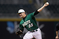 Charlotte 49ers relief pitcher Jacob Craver (35) in action against the Georgia Bulldogs at BB&T Ballpark on March 8, 2016 in Charlotte, North Carolina. The 49ers defeated the Bulldogs 15-4. (Brian Westerholt/Four Seam Images)