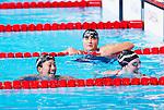 Aya Terakawa (JPN), Melissa Franklin (USA),<br /> JULY 30, 2013 - Swimming : Aya Terakawa (L) of Japan and Missy Franklin (R) of the United States after the women's 100m backstroke final at the 15th FINA Swimming World Championships at Palau Sant Jordi arena in Barcelona, Spain.<br /> (Photo by Daisuke Nakashima/AFLO)